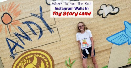 Toy Story Land Instagram Walls