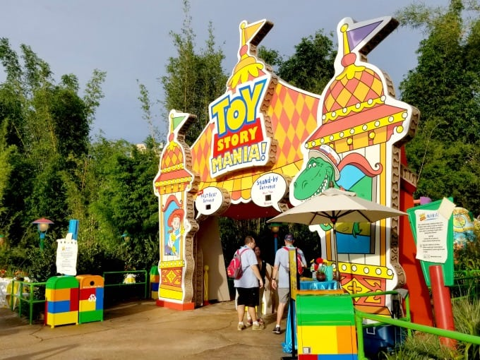 The entrance of Toy Story Mania has been moved to inside Toy Story Land