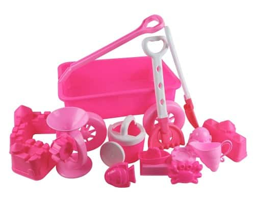 pink beach toys