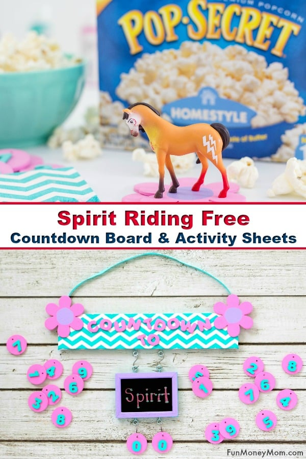 Countdown Board - Help kids keep track of special events with this fun board for counting down the days. Plus, help the time pass faster by printing these Spirit Riding Free Countdown Board and Activity Sheets. #spirit #spiritridingfree #countdown #countdownboard