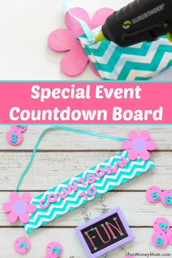 Countdown Board - Help kids keep track of special events with this fun board for counting down the days #kids #countdown
