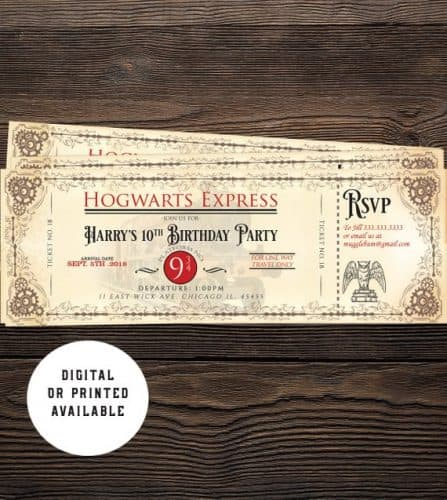 graphic relating to Hogwarts Express Printable named 36 Truly Remarkable Harry Potter Bash Suggestions Exciting Monetary Mother