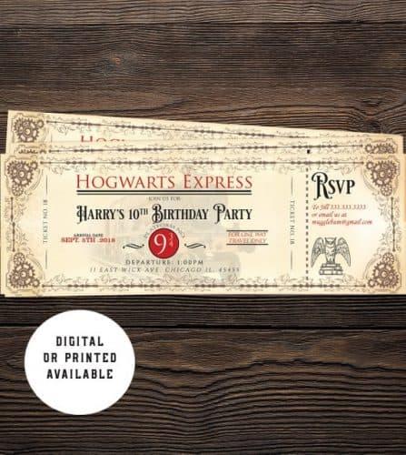 Hogwarts Express Birthday Invitations
