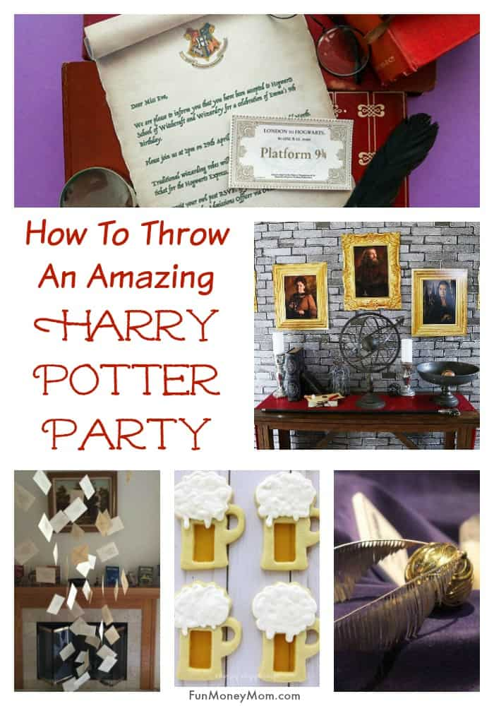 Harry Potter Party - If you're throwing a Harry Potter Birthday Party, you'll need Harry Potter invitations, decor and lots more. I've got all the Harry Potter ideas you need for making this the best birthday party ever! #HarryPotter #HarryPotterParty #HarryPotterBirthday #HarryPotterTheme #birthdayparty #birthdaypartyideas