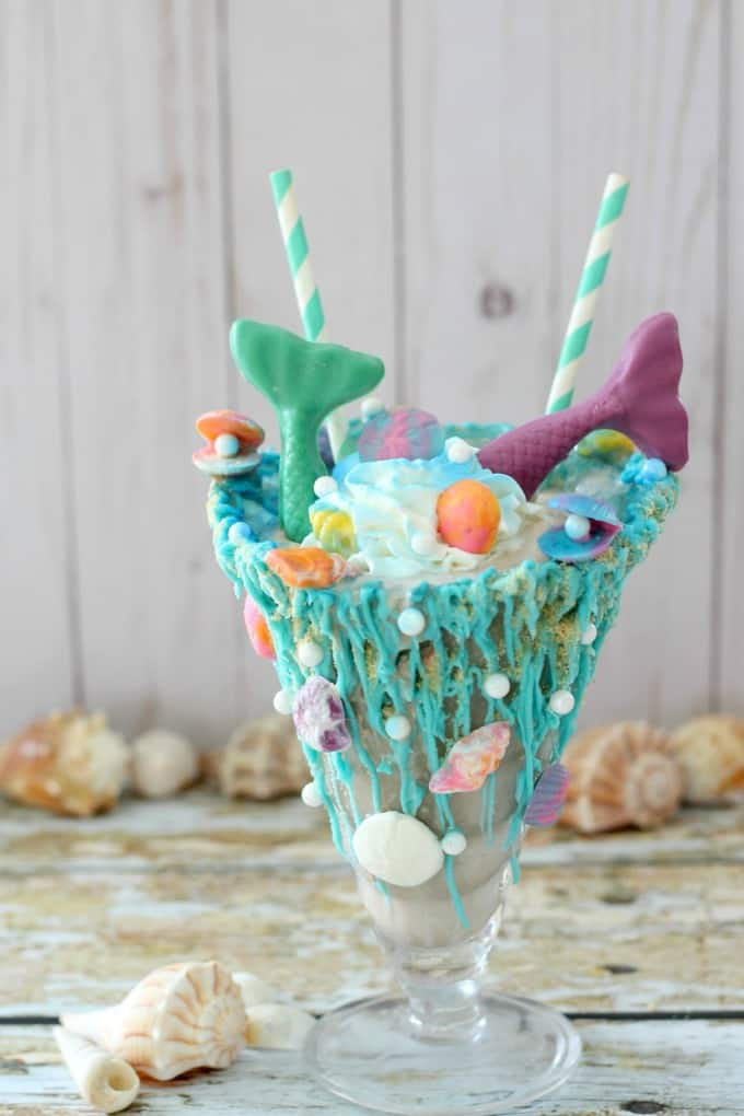 Hot Chocolate Mermaid Milkshake