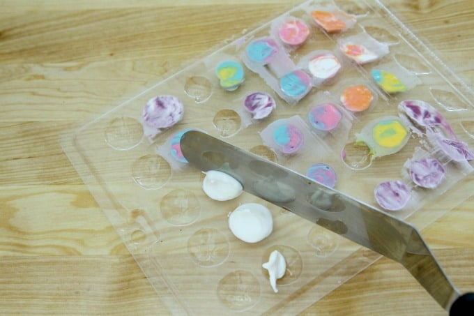 Candy melts in seashell candy mold