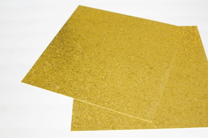 Gold glitter cardstock for Golden Snitch pumpkin