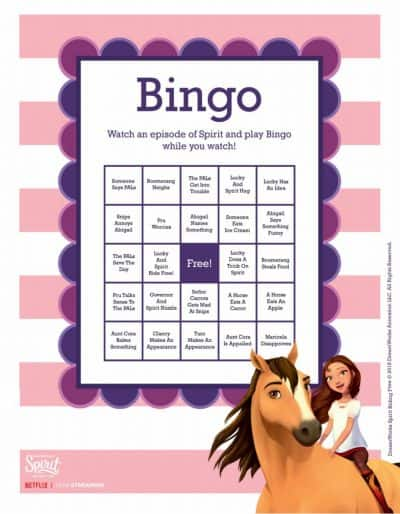 Spirit Riding Free bingo