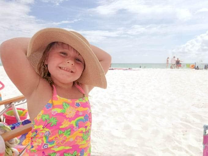 Happy kid on the beach
