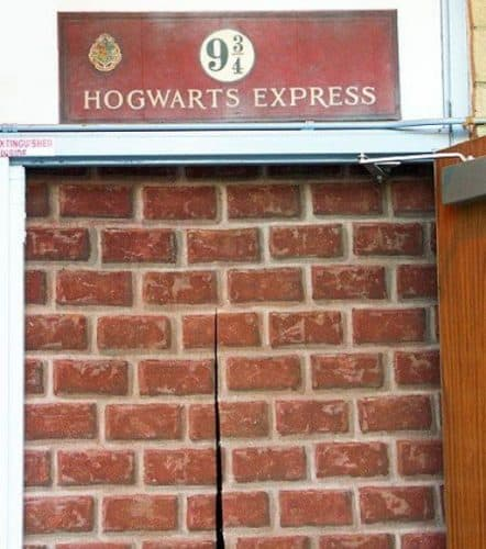 Platform 9 3/4 for a Harry Potter themed birthday