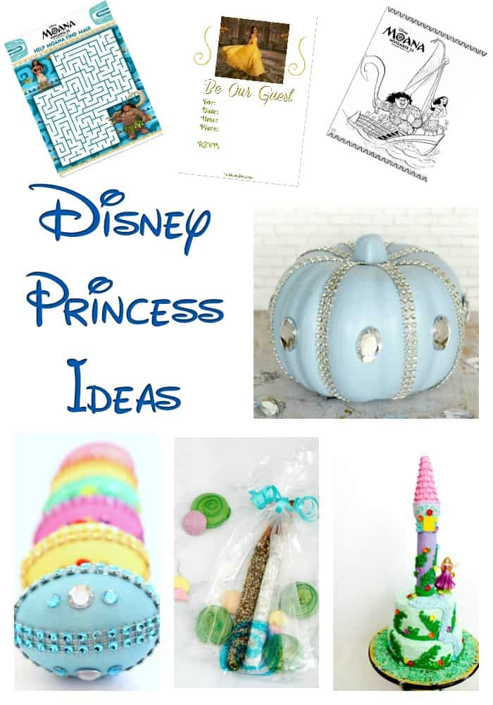 Disney Princess Ideas - Do your little ones love Disney princesses? These fun princess ideas will keep them entertained! From Moana coloring pages to Princess birthday parties, there's a fun Disney princess idea for everyone! Make princess eggs for Easter or a Cinderella pumpkin for Halloween...the possibilities are endless! #DisneyPrincessIdeas #disneyprincess #princessideas #princessparty #princessactivities #disneycrafts