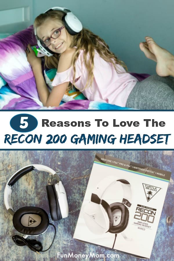 Recon 200 Gaming Headset - If your kids love gaming, you're going to want to check out this headset! With awesome sound quality, an adjustable microphone and long lasting battery, it's perfect for your little gamer! #ad #Turtlebeach #gamingheadset #giftsforkids