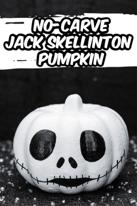 Jack Skellington pumpkin with black background