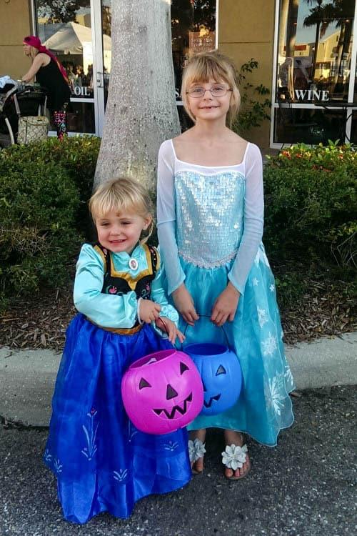 Playing Disney Princess Dress Up for Halloween