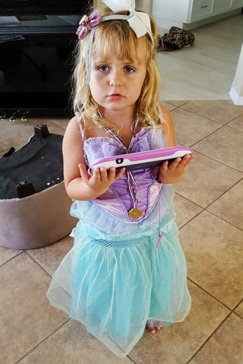 Keira playing Disney Princess dress up as Ariel