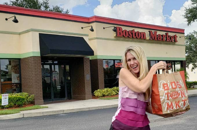 Picking up family meals at Boston Market makes life easier for moms