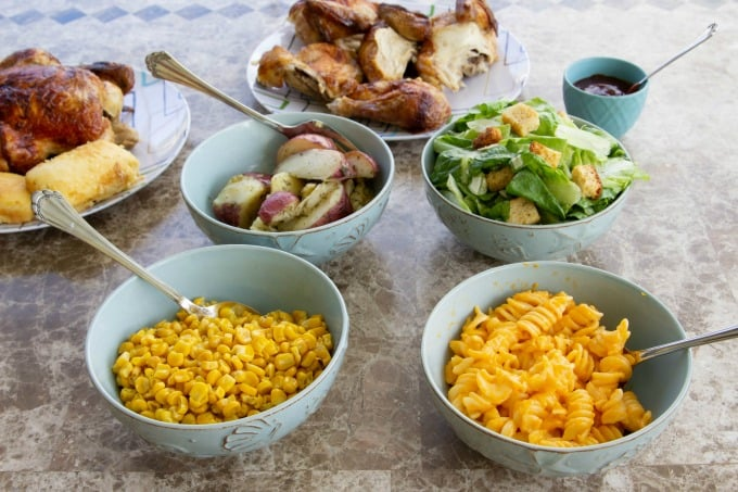 Boston Market family meals come with a variety of side dishes