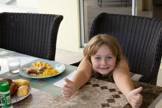 Keira gives Boston Market two thumbs up