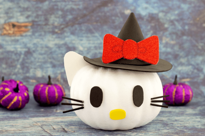 No carve Hello Kitty Pumpkin for Halloween