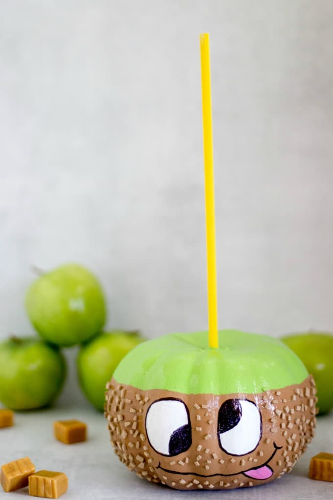 Caramel apple pumpkin for Halloween