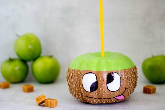 Cute caramel apple pumpkin