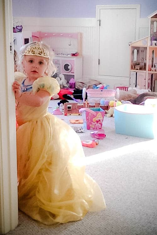 Disney princess dress up: Keira as Belle