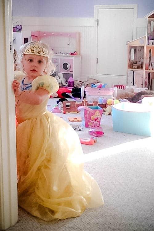 Disney princess dress up: Keira as Belle