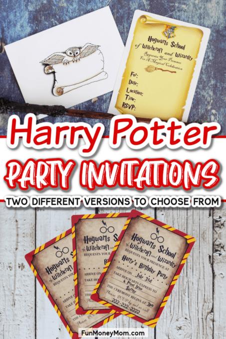 Harry Potter Invitations