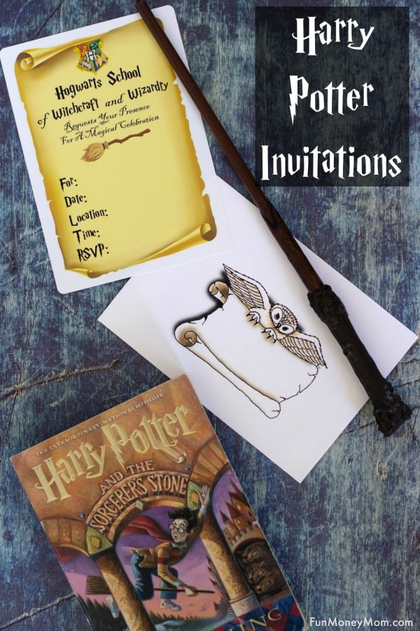Harry Potter Invitations - Need Harry Potter birthday invitations? Print these and fill them out or customize them online (easy tutorial included!). These free printable invitations are perfect for your Harry Potter themed party! #harrypotter #harrypotterinvitations #harrypotterbirthday #birthdayinvitations #printableinvitations
