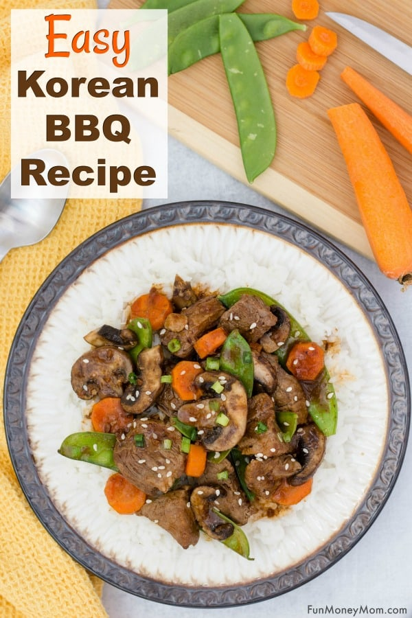 Korean BBQ Recipe - This easy dinner recipe is a lifesaver for busy moms. With just 5 ingredients, it's a delicious Asian stir fry that can be made in 20 minutes. #ad