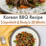 Korean BBQ Recipe - This easy dinner recipe is a lifesaver for busy moms. With just 5 ingredients, it's a delicious Asian stir fry that can be made in 20 minutes.