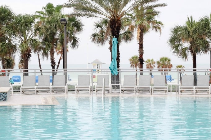 The pool at the Wyndham Grand Clearwater Beach