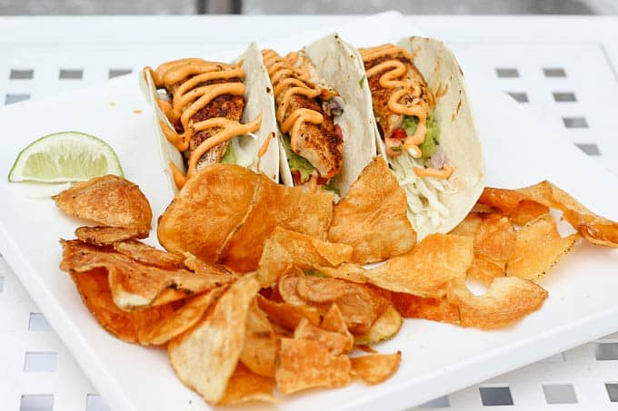 Fish Tacos at the Wyndham Grand Clearwater Beach