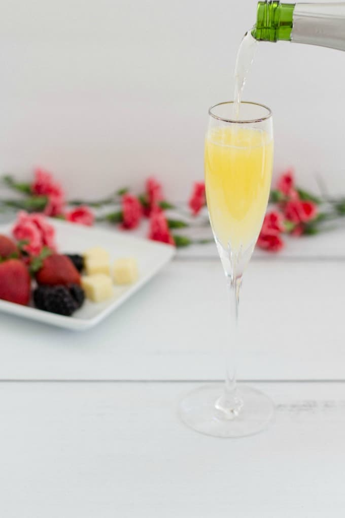 Treat yourself to mimosas for an at home spa day
