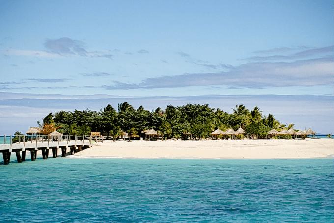 Leaving Tivua Island in Fiji