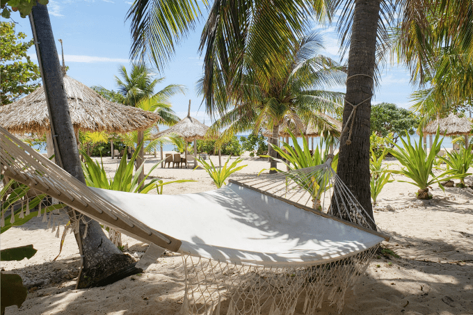 Hammock in Tivua, of of the beautiful Fiji Islands