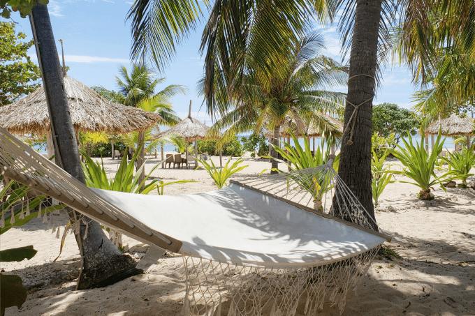 Hammock in Tivua, of of the beautiful Fiji Islands