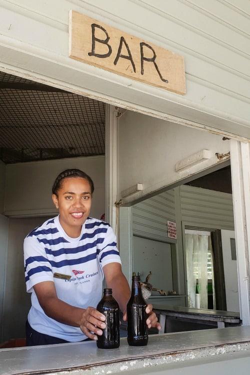 Bar on Tivua, one of the Fiji Islands