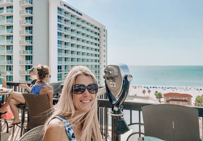 Rooftop bar next to the Wyndham Grand Clearwater