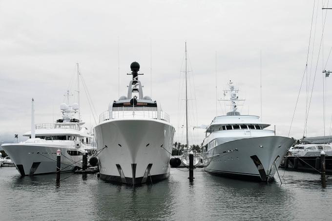 Yachts in the Denarau Port