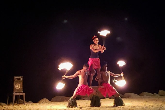Nightly fire show at the Westin Denarau Fiji