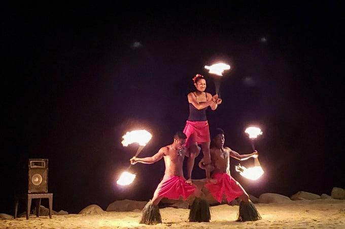 Nightly fire show at the Westin Denarau Fiji