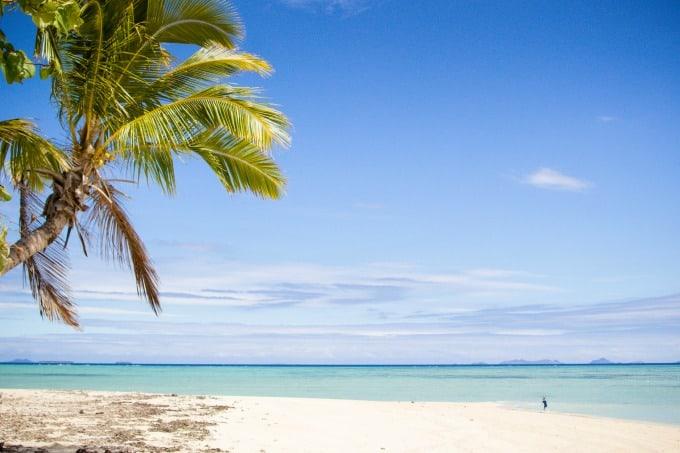 The gorgeous backdrop of Tivua Island