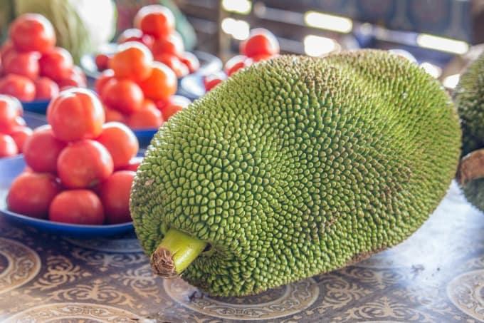 Mystery produce at the market in Nadi Fiji