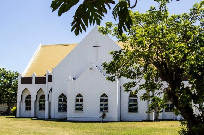 Church in a Fiji village