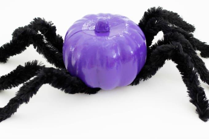 Spider pumpkin with legs