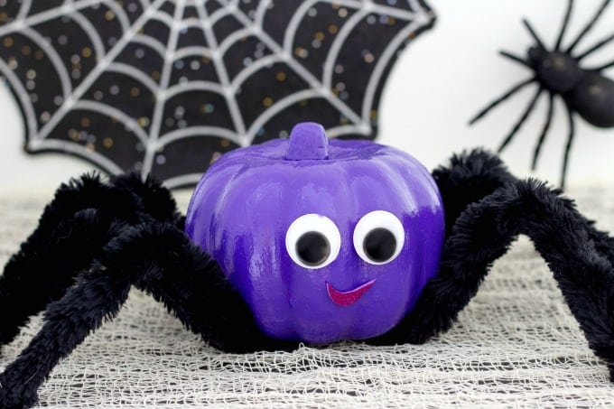 Spider pumpkin for Halloween