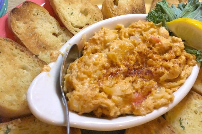 Crab and Shrimp Dip at Cooters