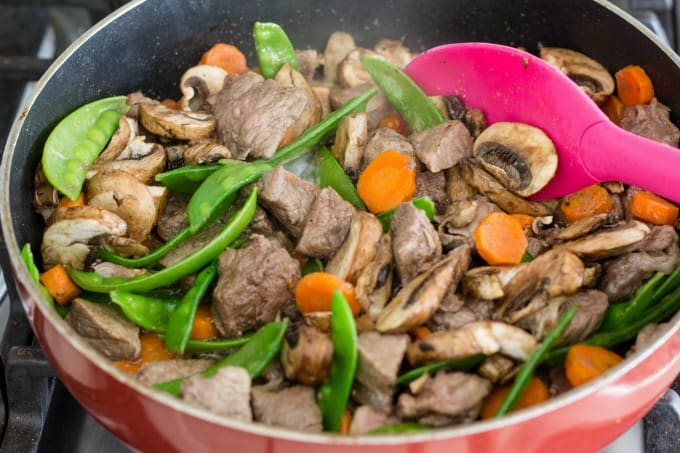 Adding mushrooms to Korean BBQ recipe