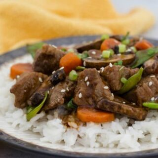 Asian stir fry with beef